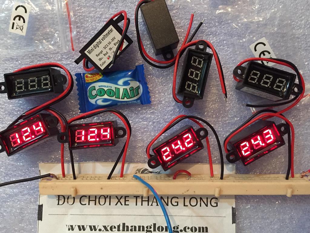 Đồng hồ đo Vôn bình ắc quy chống nước