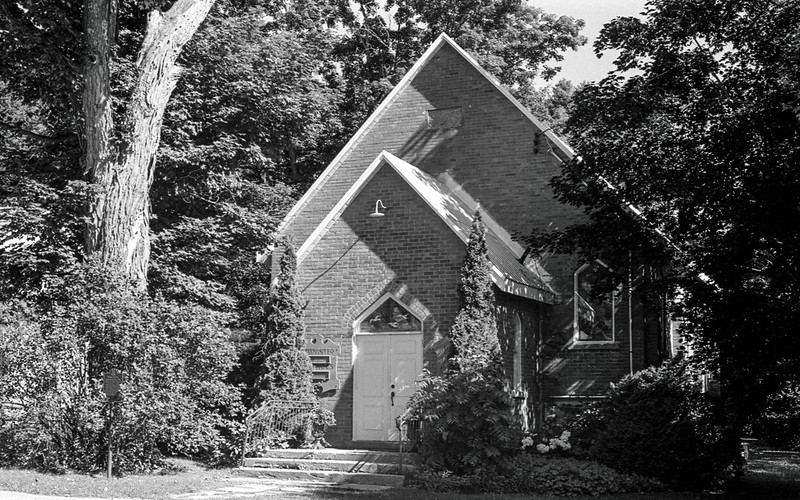 Mono Centre United Church in the Morning Sun