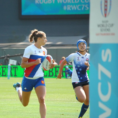 France v Japan #rugby #rugbygirls #rwc7s #attpark coming to 3pointsport.com from August 1 to 17.