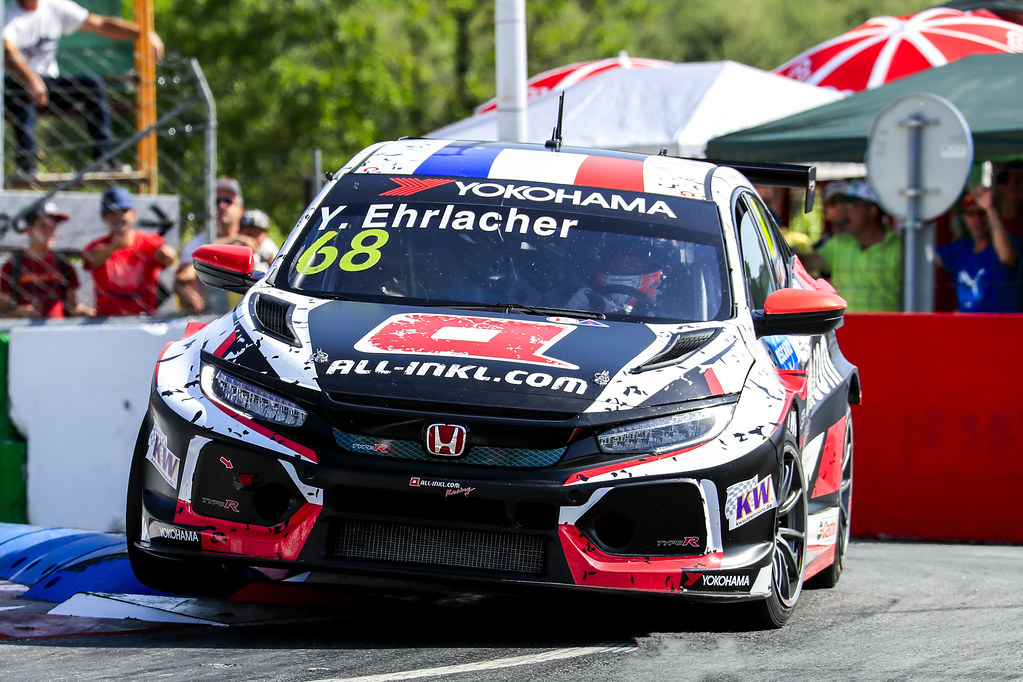 68 EHRLACHER Yann, (fra), Honda Civic TCR team ALL-INKL.COM Munnich Motorsport, action, during the 2018 FIA WTCR World Touring Car cup of Portugal, Vila Real from june 22 to 24 - Photo Paulo Maria / DPPI