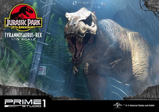 Prime 1 Studio《侏羅紀公園》霸王龍 T-Rex / ティラノサウルス・レックス  LMCJP-01EX 1/15 比例全身場景雕像作品