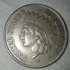 Nepal find USA 1851 coin obverse