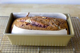 marbled raspberry cake, baked