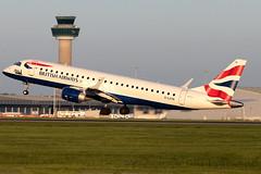 G-LCYN British Airways Citiflyer ERJ-190 London Stansted Airport
