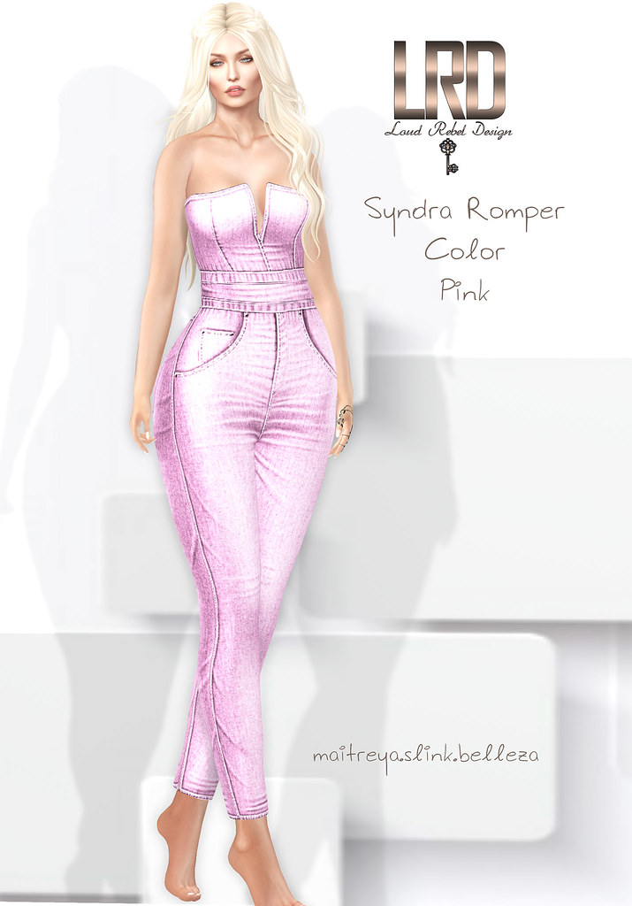 LRD Syndra romper color pink