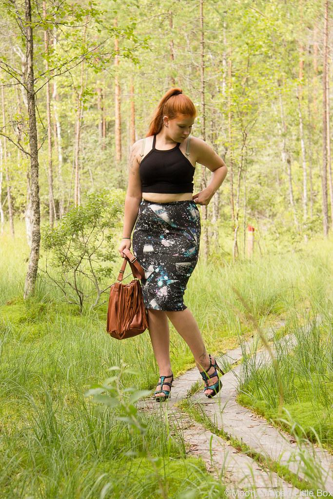 Asu, tyyli, bloggaaja, Pohjois- Karjala bloggaaja, midihame ja croptop