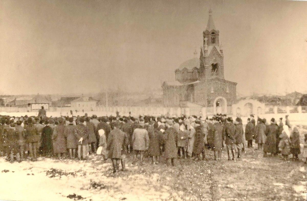 Церковь св. Пантелеймона Целителя. Март 1917