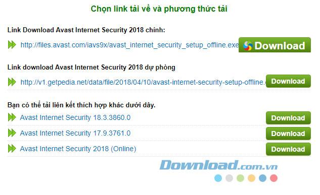 Bảo vệ dữ liệu, bảo mật nội dung, quét máy tính với Avast Internet