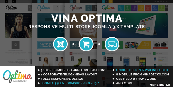 Vina Optima v1.2 - Multi-Store Joomla 3.x Template