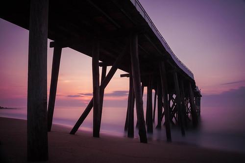 summer ocean landscape sunrise beach belmar newjersey unitedstates us pier fishermanspier