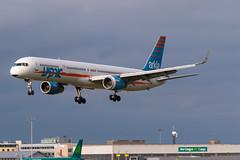 Arkia Boeing 757-300 4X-BAU Landing at Dublin Airport August 2018