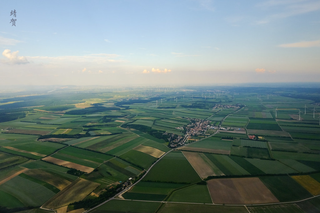 Wind turbines around Lower Austria