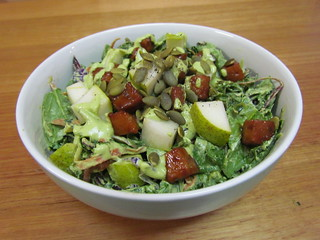 Fresh 'Fig' and Tempeh Salad with Creamy Cilantro Lime Dressing