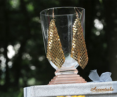 Golden Dangling Earrings