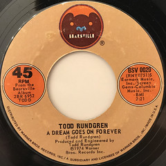 TODD RUNDGREN:A DREAM GOES ON FOREVER(LABEL SIDE-A)