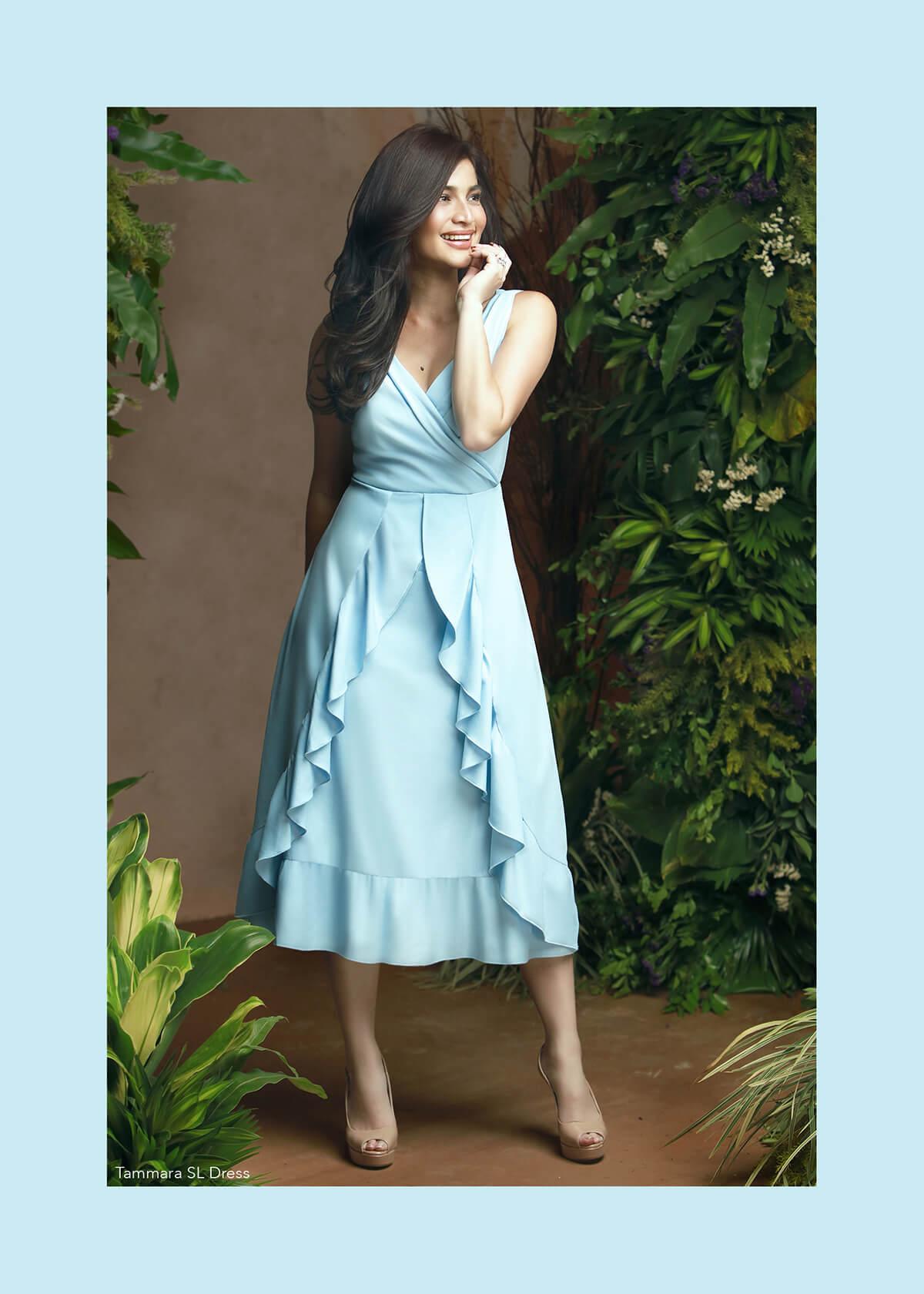 Plains & Prints Mark Bumgarner Collection - Tammara SL Dress Light Blue