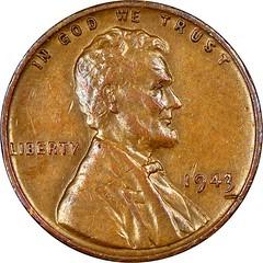 Lutes Discovery Specimen 1943 Bronze Cent obverse