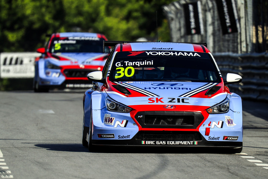 30 TARQUINI Gabriele, (ita), Hyundai i30 N TCR team BRC Racing, action, during the 2018 FIA WTCR World Touring Car cup of Portugal, Vila Real from june 22 to 24 - Photo Paulo Maria / DPPI