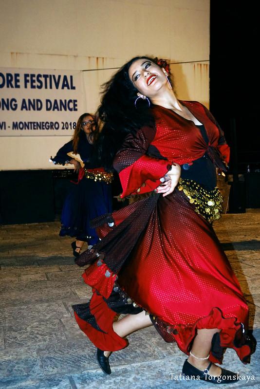 Танец девушки из турецкой фольклорной группы