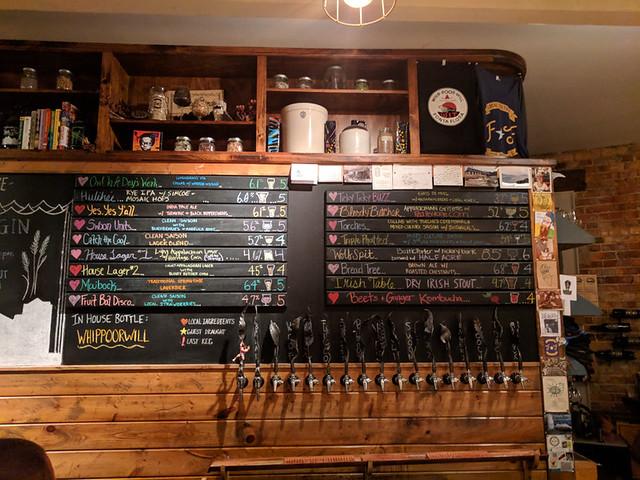 beer menu @ Fonta Flora