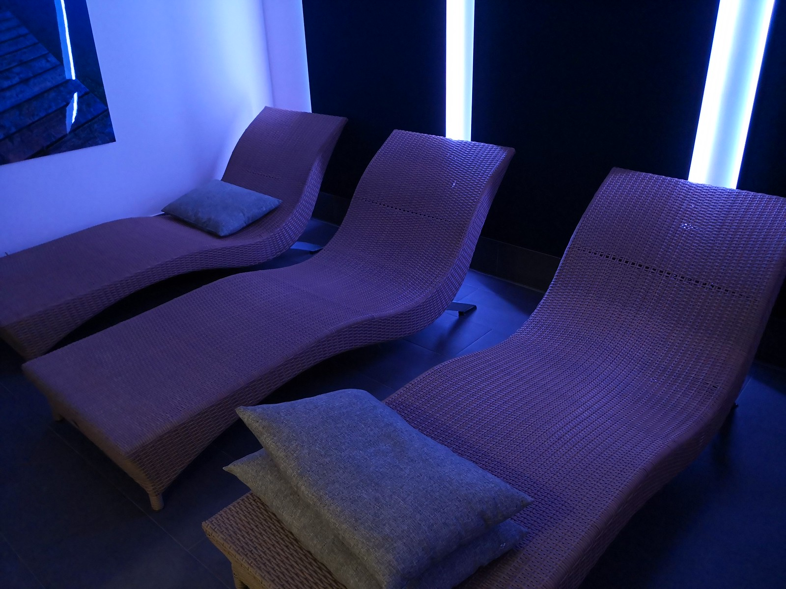 Chaise lounge in the spa