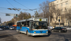 Almaty city bus: MAN SL202 # A496RPN