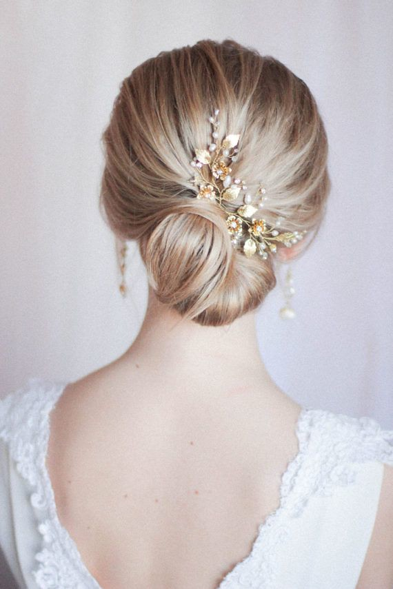 Wedding Hairstyles : Bridal Hair Pins Bridal Headpiece Large Floral Hair Pins Hair Adornments for Bri... -