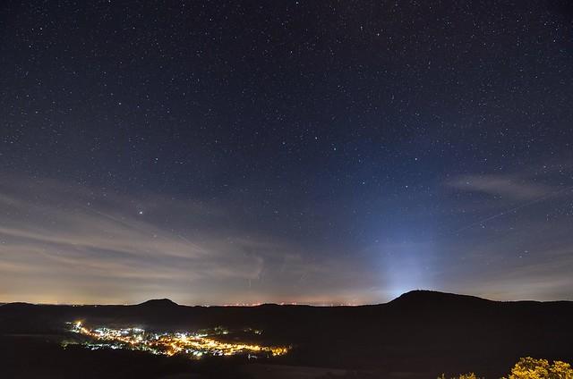 Sternenhimmel über Merzalben, Nikon D7000, AF DX Fisheye-Nikkor 10.5mm f/2.8G ED