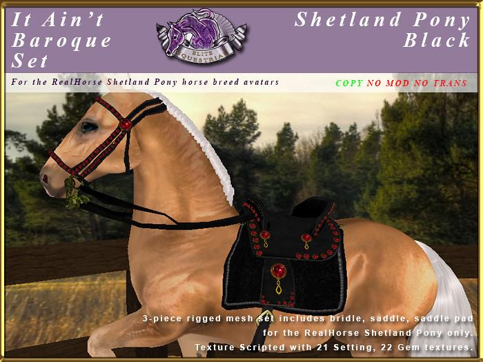 E-RH-ShetlandPony-ItAintBaroqueSet-Black - TeleportHub.com Live!
