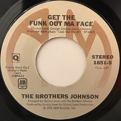 THE BROTHERS JOHNSON:GET THE FUNK OUT MA FACE(LABEL SIDE-A)