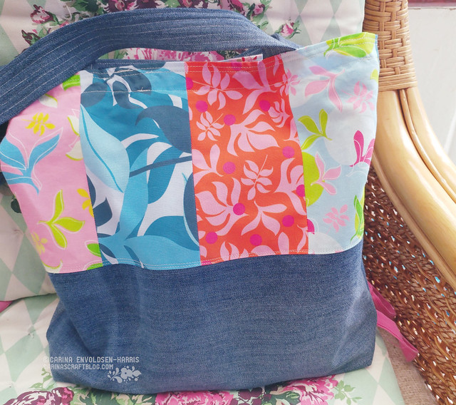 Tropical Leaves fabric - new bag