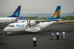 PK-MNE CASA C-235 Merpati @ Jogyakarta WAHH