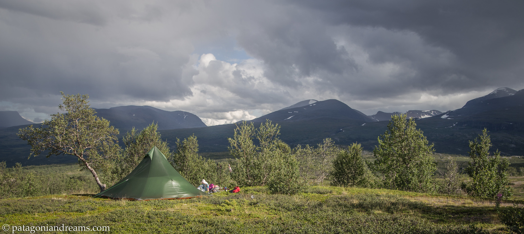 Another bivaouc spot in the Abisko National Park. Swedish Lapland.