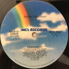 RALPH TRESVANT:SENSITIVITY(LABEL SIDE-A)