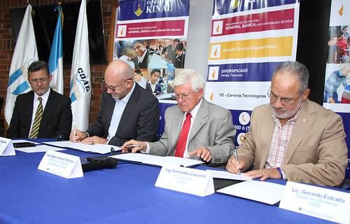 Firma de convenio KINAL, COG y CDAG