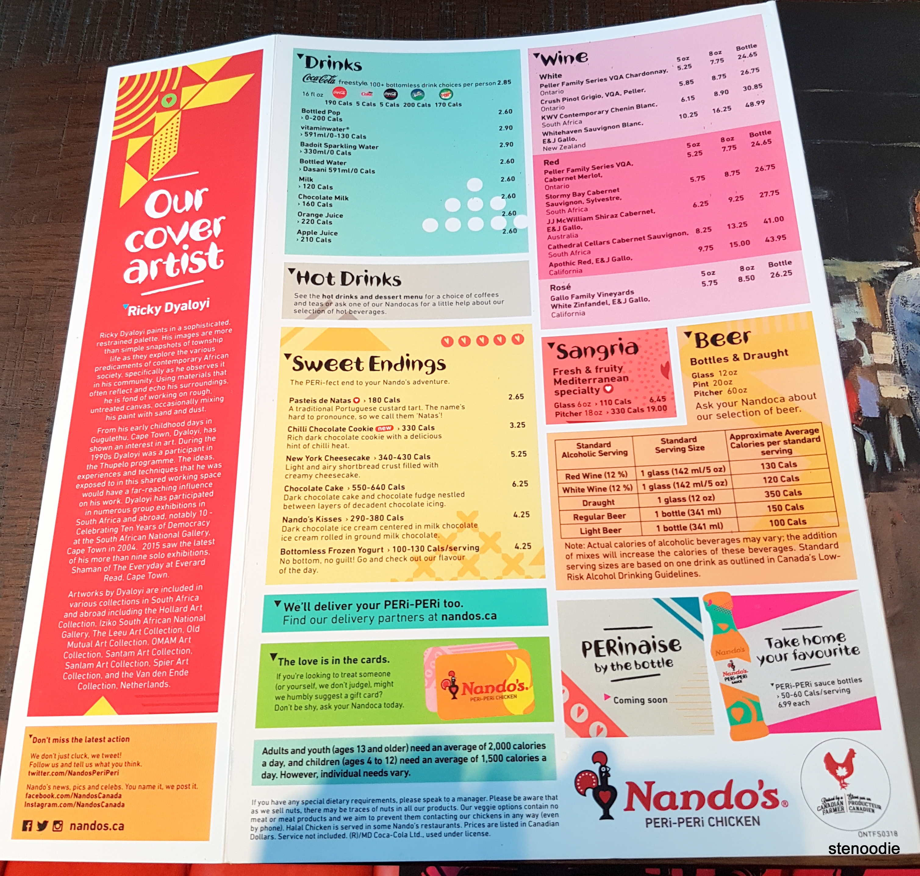 Nando's Markham menu and prices