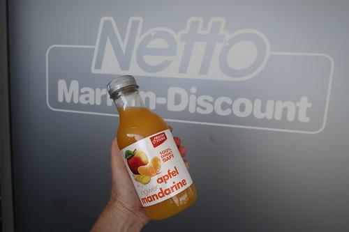 Apfel-Mandarine-Ingwer-Saft vom Netto