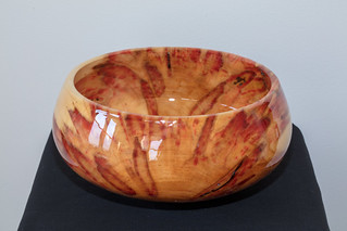 Flame Box Elder, Epoxy, 9.5 x 4.5, #144