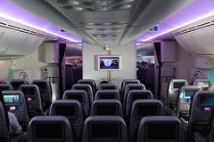 En-route to Doha from Edinburgh on Qatar Airways Boeing 787-8 Dreamlin