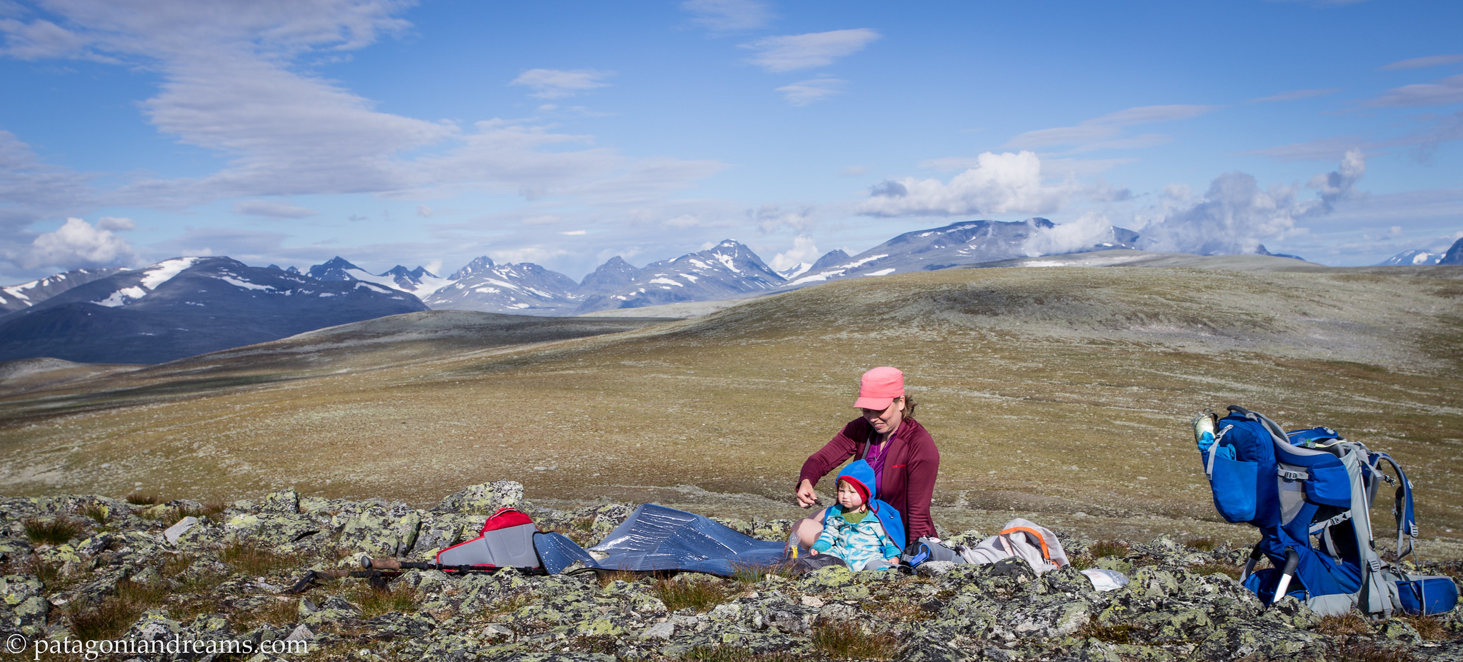 It's not the beach, but hey, it's sunny and the view is nice! Sarek NP. Laponia. Swedish Lapland.