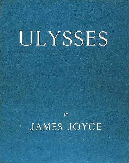 Ulysses by James Joyce, published on February 2, 1922. Cover of the first edition.