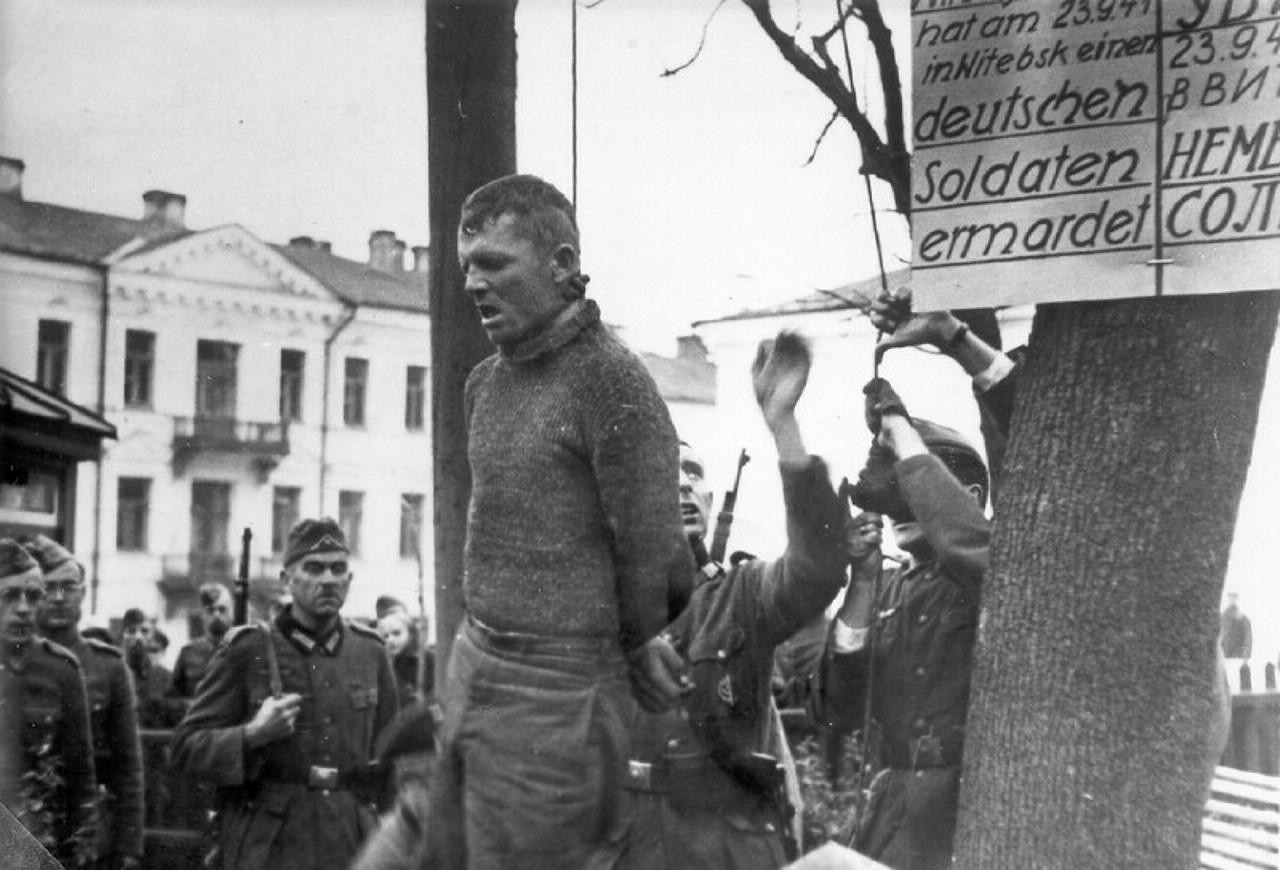 1941. Казнь подпольщика Владимира Виноградова, убившего в Витебске немецкого солдата