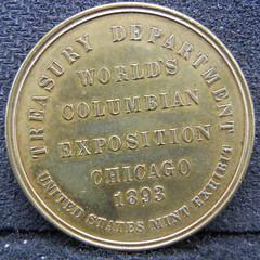 1893 Mint Exhibit Token reverse