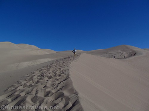 Hiking the dunes at Great Sand Dunes National Park, Colorado