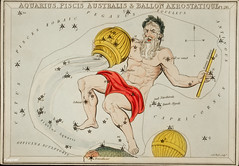 Sidney Hall's (1831) astronomical chart illustration of the zodiacs Aquaris, Piscis Australis and Ballon Aerostatique. Original from Library of Congress. Digitally enhanced by rawpixel.