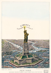 The Great Bartholdi Statue, Liberty Enlightening the World, published by Currier & Ives. Original from Library of Congress. Digitally enhanced by rawpixel.