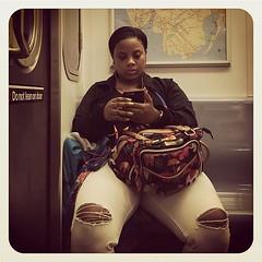 Wednesday morning 2 train. #nycsubwayportraits #nyc #train #subway #metro #mta #publictransportation #commute #passenger #stranger #2train