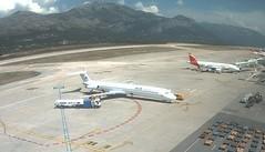 ALK Airlines McDonnell Douglas MD-82 LZ-DEO Dubrovnik Airport webcam c