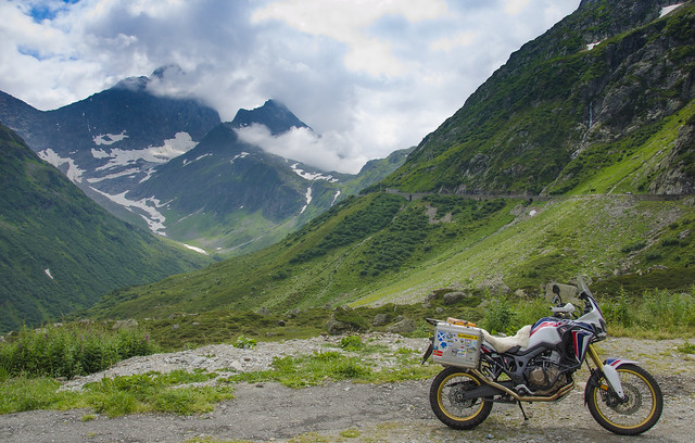 Africa Twin on the Susten Pass