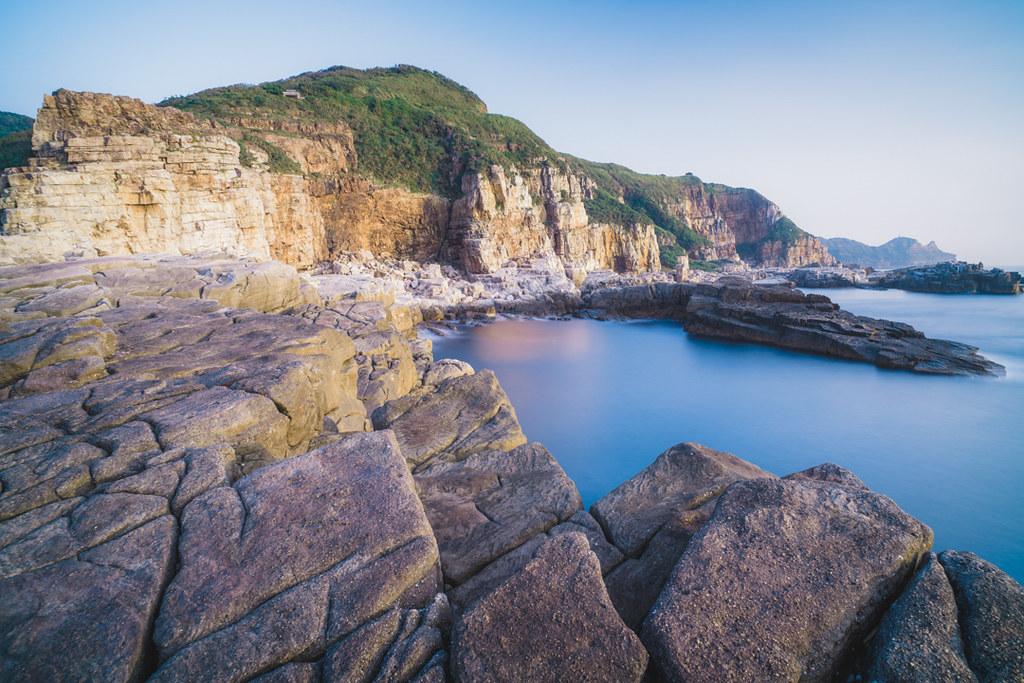 龍洞灣岬海岸風景